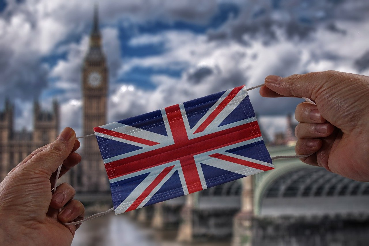 Face Mask Flag England Hand  - geralt / Pixabay